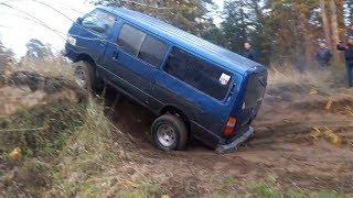 На автобусе по бездорожью! Подготовленный Toyota HiAce vs Jeep Grand Cherokee