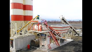 MOBİL BETON SANTRALİ Çalışma /Concrete batching plant video
