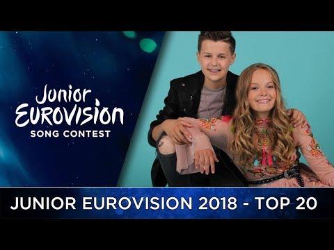 Junior Eurovision 2018 - My Top 20 - HD