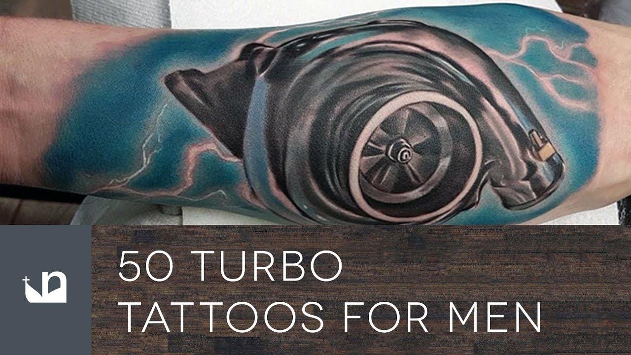 50 Turbo Tattoo Ideas For Men – Turbocharged Designs