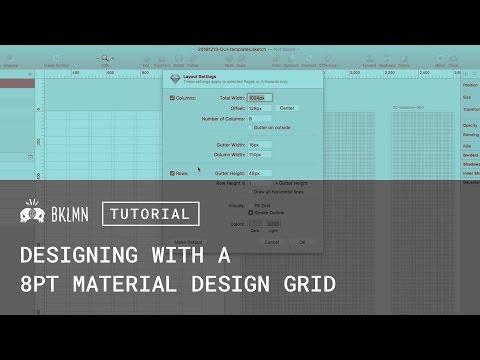 Tutorial: 8pt Grids, Layout, & Material Design GUI Templates