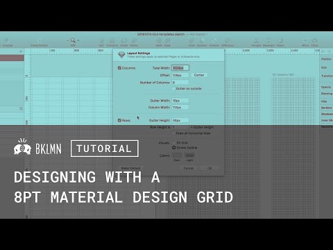 Tutorial: 8pt Grids, Layout, & Material Design GUI Templates