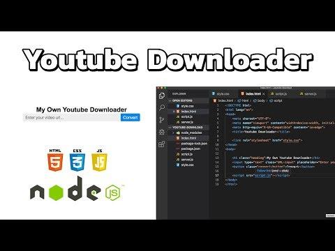 สร้าง Youtube Downloader ด้วย NodeJS | JS