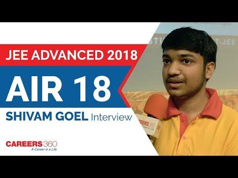 JEE Advanced 2018 Topper | AIR 18, Shivam Goel Interview | Careers360