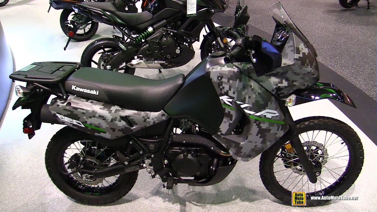 2016 Kawasaki KLR 650 Camo - Walkaround - 2015 AIMExpo Orlando - YouTube