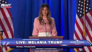 FNN:  Melania Trump Campaigns For Her Husband - Berwyn, PA - 11/3/16
