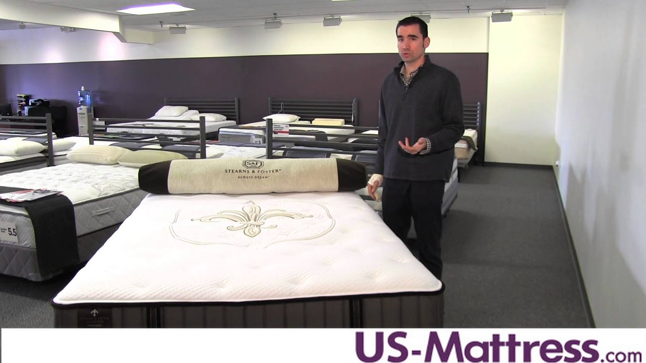 Stearns Foster Lux Estate Point Knox Luxury Firm Mattress Youtube