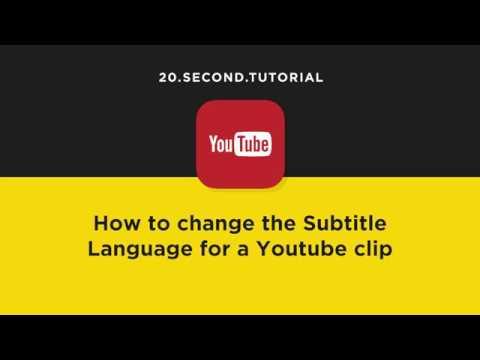 Change the language of YouTube subtitles   YouTube Tutorial #9