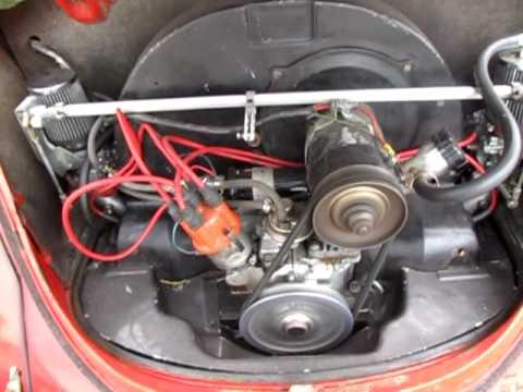 Yellow 73 VW Kafer Beetle Bug EMPI DUAL 34 EPC CARBs 16... | Doovi