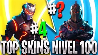 TOP FORTNITE'S BEST LEVEL 100 SKINS 😍 THE BEST LEVEL 100 SKIN OF THE BATTLE PASS