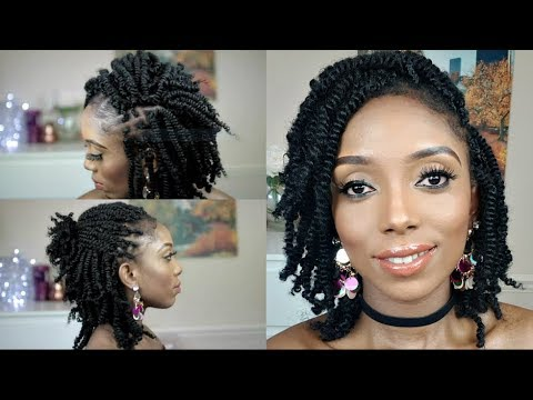 How To Kinky Twists Crochet Braids Tutorial On Short Natural Hair Youtube