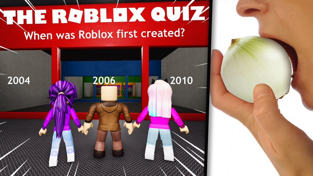 We took a Roblox Quiz the loser eats a raw ONION YouTube