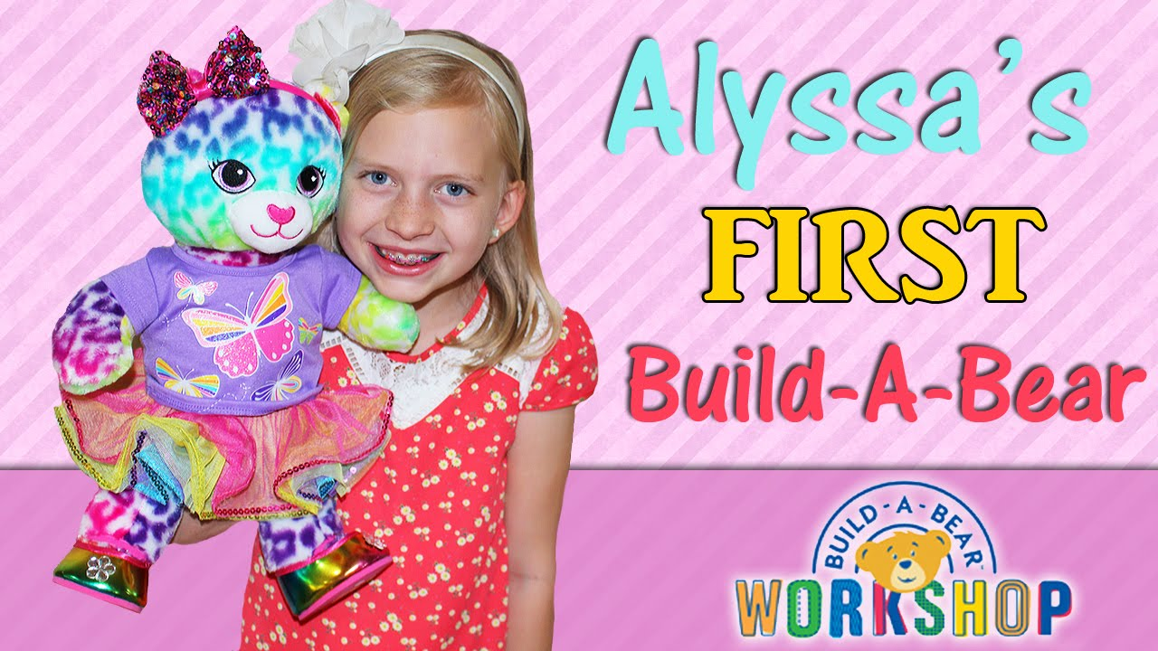 Alyssas First BuildABear YouTube – Build a Bear Invitations Birthday