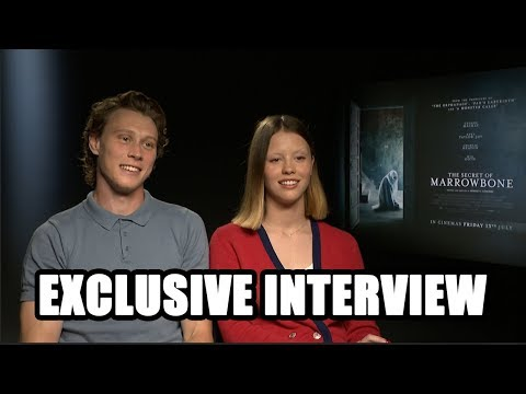 The Secret of Marrowbone  George MacKay and Mia Goth  Exclusive