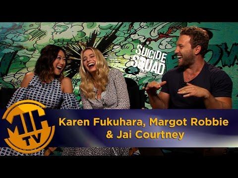 Karen Fukuhara, Margot Robbie and Jai Courtney Interview Suicide Squad