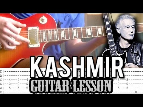 Led Zeppelin - Kashmir Full Guitar Lesson (With Tabs)