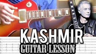 Led Zeppelin - Kashmir Full Guitar Lesson (With Tabs)