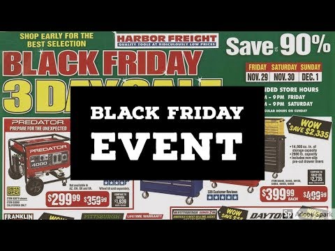 Harbor Freight Leaked Black Friday Event 2019