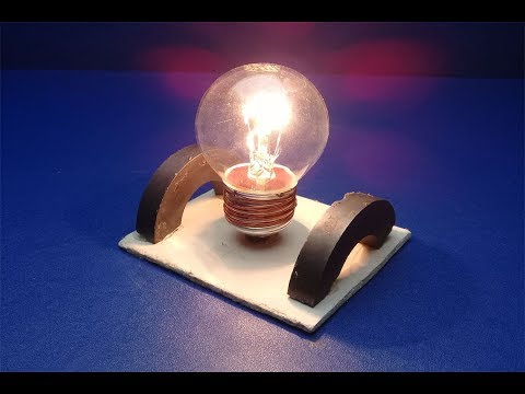 New Free Energy Light Bulbs Using Magnet , New Ideas For 2019