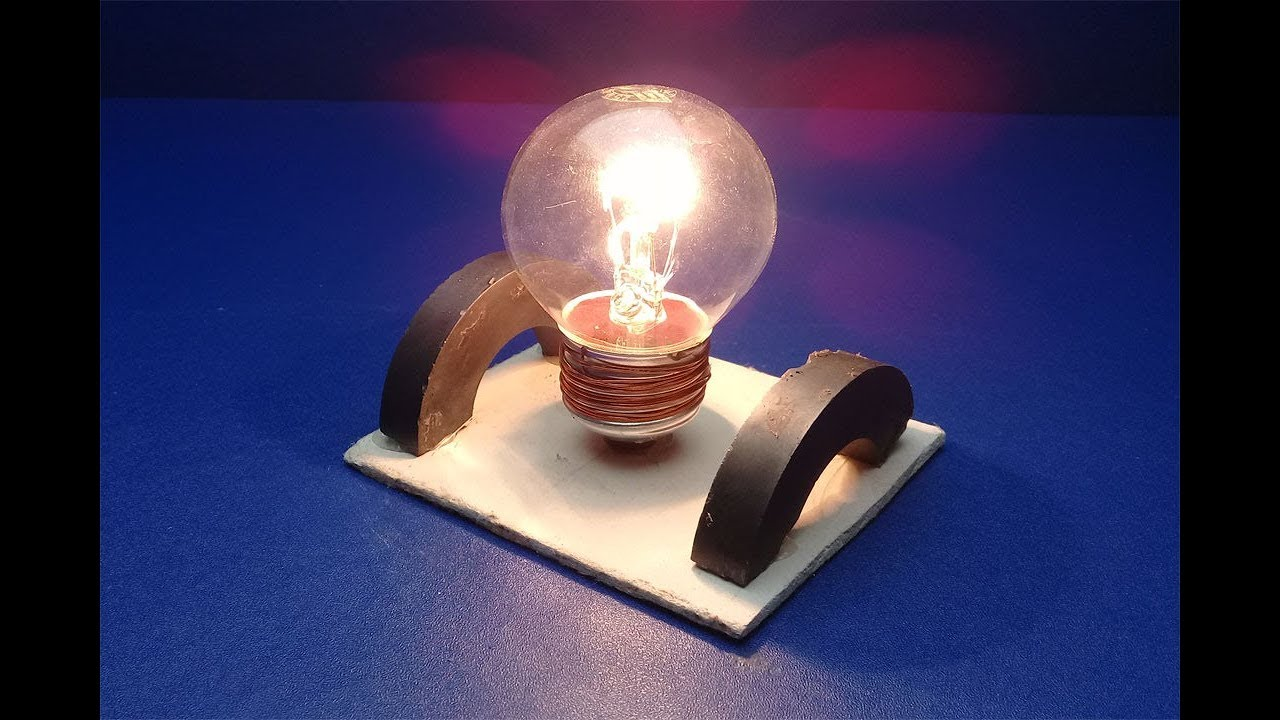 New Free Energy Light Bulbs Using Magnet   New Ideas For