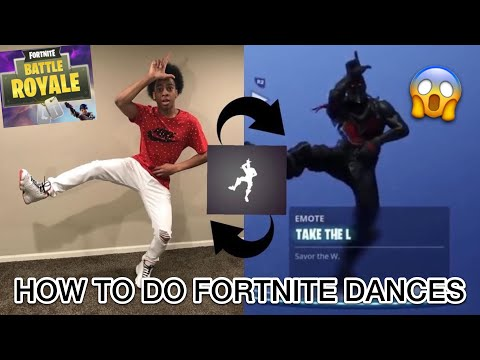 HOW TO DO FORTNITE DANCES IN REAL LIFE ( TAKE THE L, REANIMATE 🔥 )