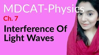 MDCAT Physics Lecture Series, Ch 7, Interference of Light Waves, Physics MDCAT Entry Test