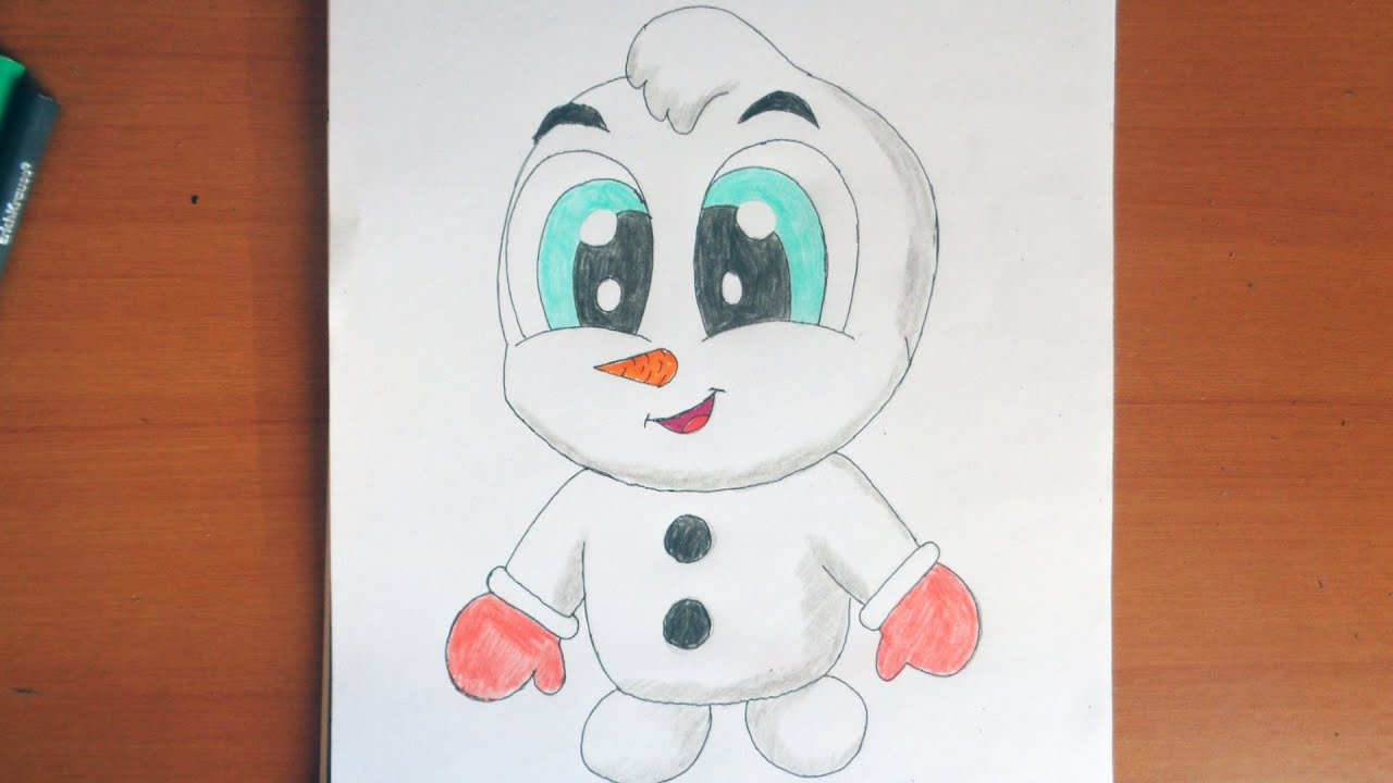 how to draw cute snowman christmas stuff pictures youtube