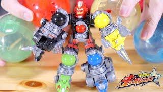 【宇宙戦隊キュウレンジャー】200円のガシャポンボイジャー!組み替え合体も!ガシャポンキューボイジャー01全5種をレビュー! thumbnail