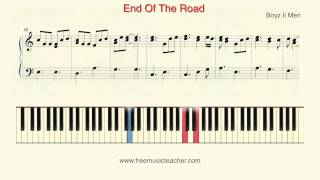 "How To Play Piano: Boyz Ii Men ""End Of The Road"" Piano Tutorial by Ramin Yousefi"