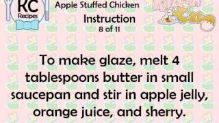 Apple Stuffed Chicken - Kitchen Cat
