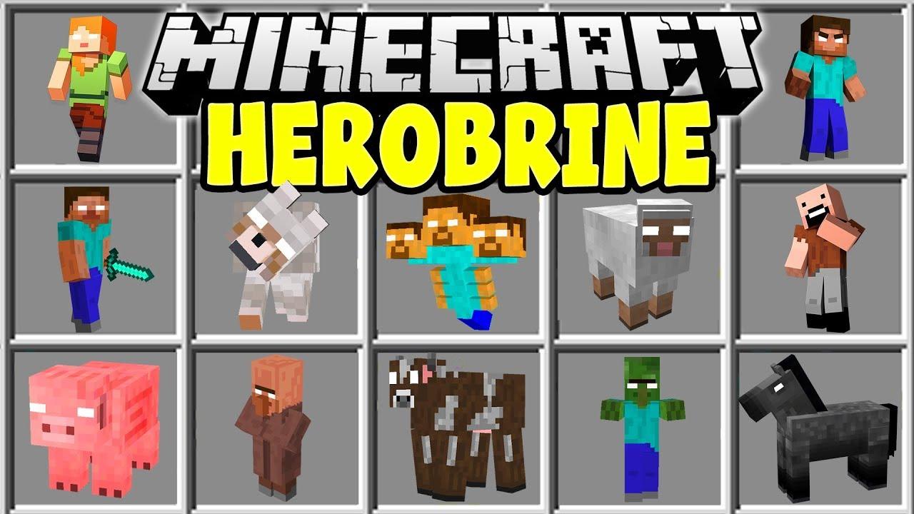 Minecraft HEROBRINE MOD SUMMON HEROBRINE AND TRY TO SURVIVE