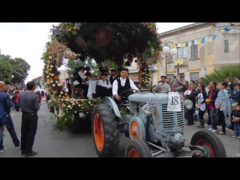 Serramanna Sfilata carri festa S.Isidoro 2014