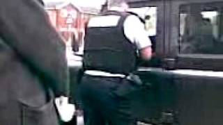 Labour party police thug trys to stop BNP bi election campaign