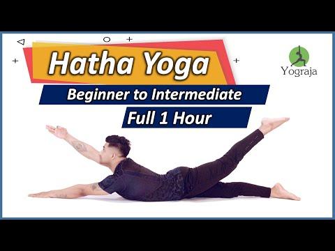 full 1 hour hatha yoga for beginner to intermediate level