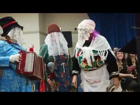 Mummers at Conception Bay South Music School Christmas dinner and concert