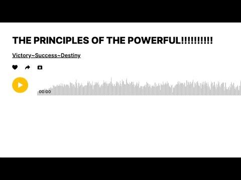 Bro. EL: THE PRINCIPLES OF THE POWERFUL