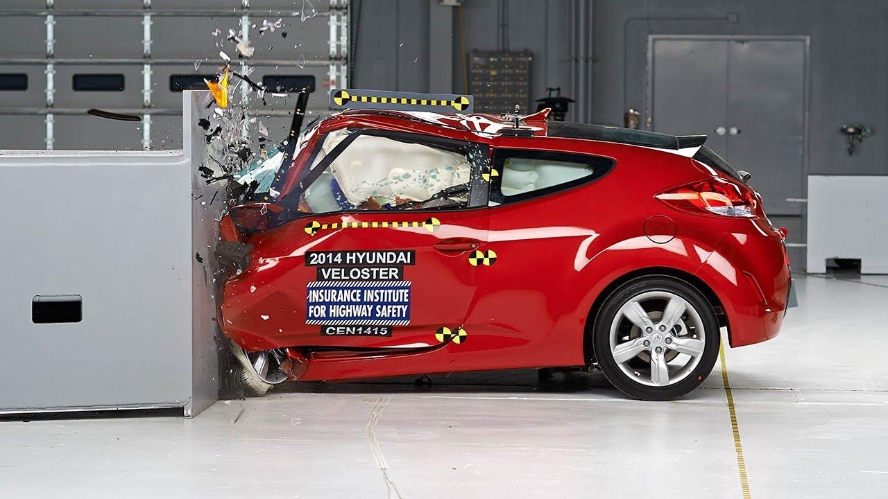 2014 Hyundai Veloster Driver Side Small Overlap Iihs Crash