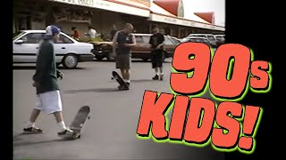 90s Kids Skateboarding And Hanging Out (1994)