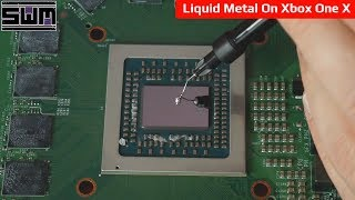 Using Liquid Metal On Game Consoles! What Could Go Wrong?