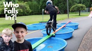 BMX Pool Obstacle Course!