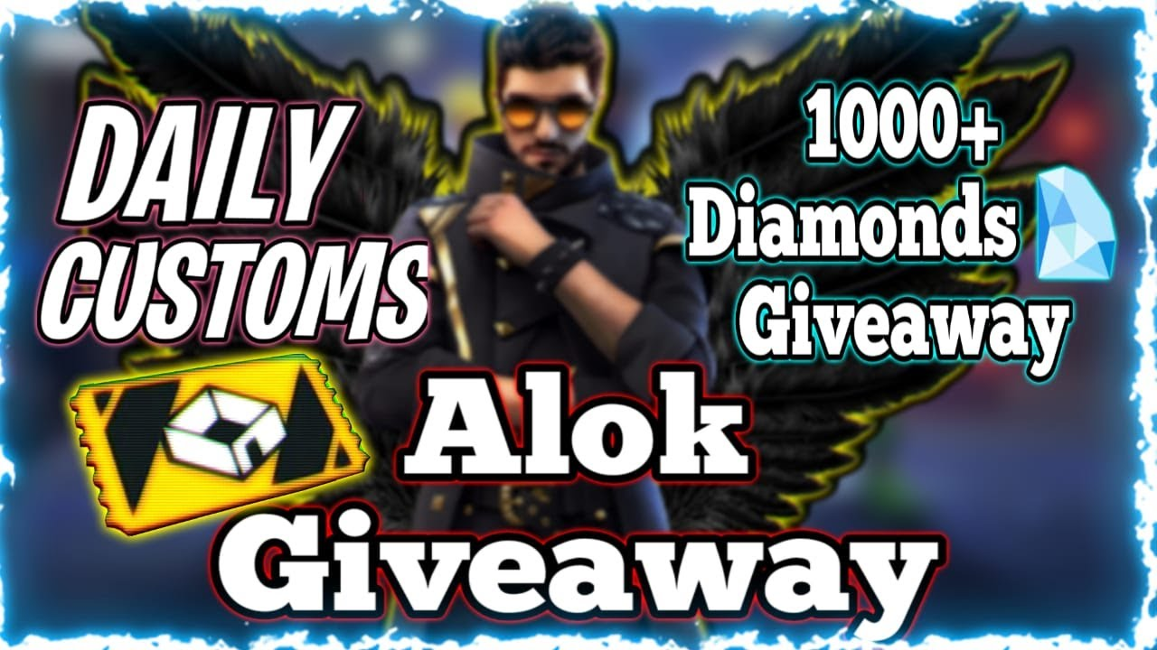 Live ALOK GIVEAWAY | 1000+ Diamond Giveaway | FREE fire LIVE | CUSTOM ROOMS