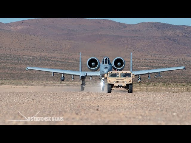 A-10 Warthog Demonstrates Phenomenal Ability to Use Unpaved Strips