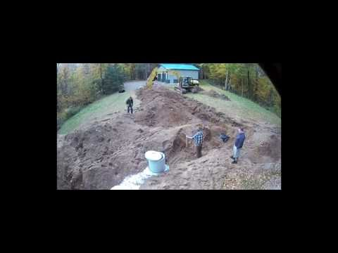Septic Tank and Leach Field Install Time lapse