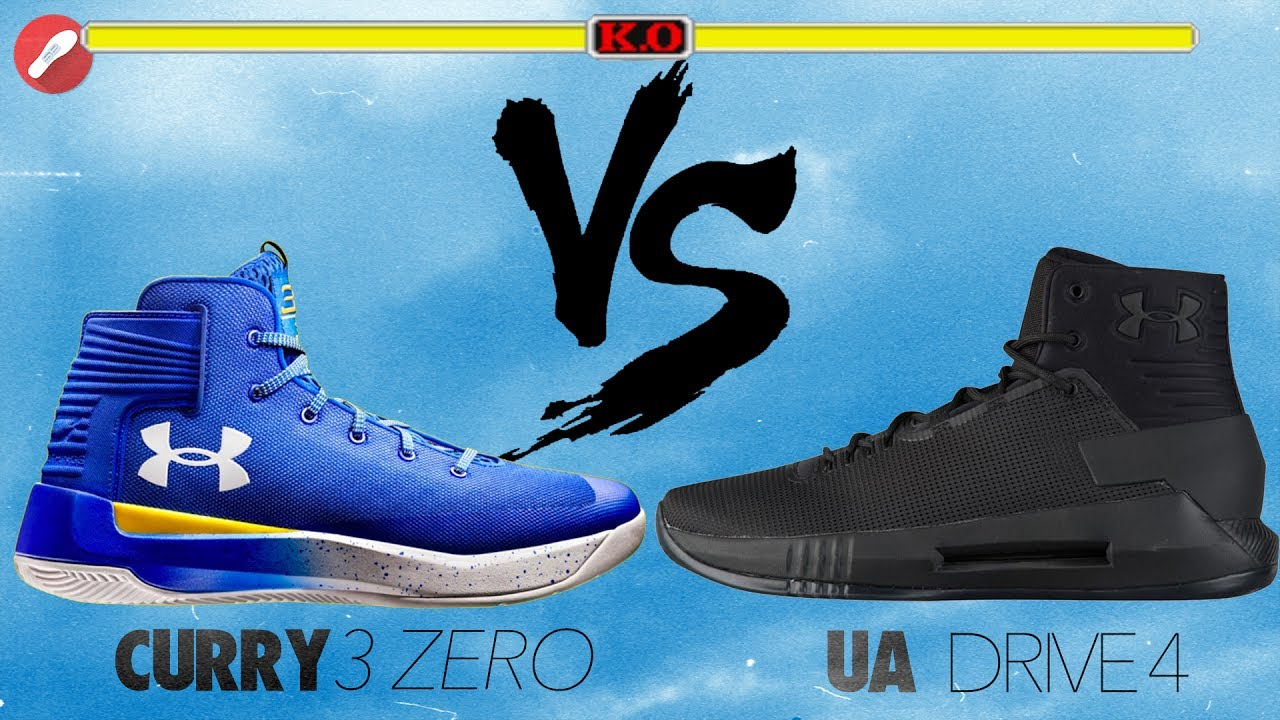 92b40d2fd62 Under Armour Curry 3 Zero vs UA Drive 4! - YouTube