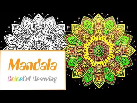 speed-coloring---coloriage-mandala-n°3-!