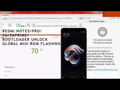 Redmi Note5/5A/5APRIME/5Pro | Unlock Bootloader | Flashing Global Stock Rom
