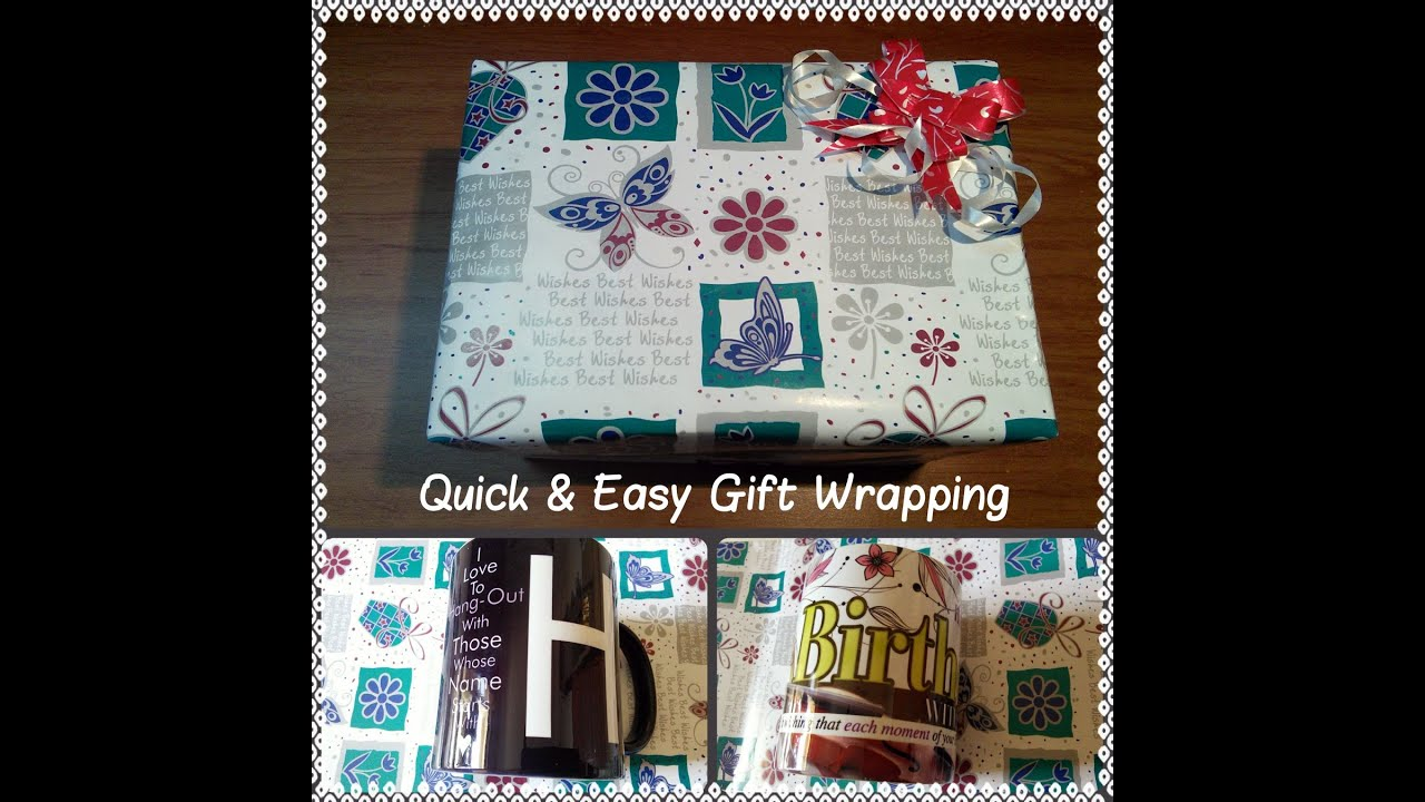 Quick Easy Gift Wrapping Youtube