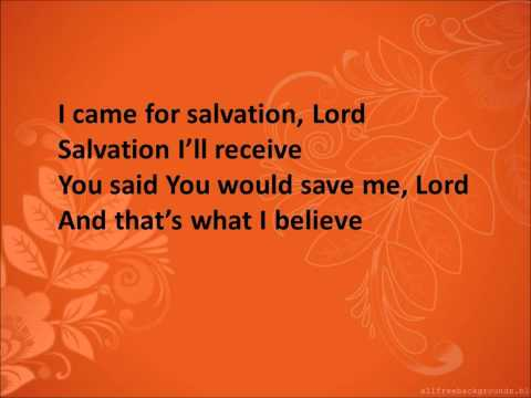That's What I Believe by Donnie McClurkin (Lyrics)