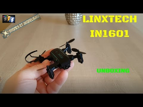 LINXTECH IN 1601 WIFI 720 FOLDING DRONE UNBOXING,RCMOMENT