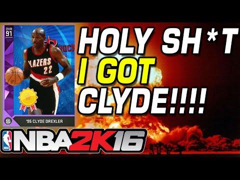 NBA 2K16 I GOT CLYDE DREXLER HOLY SHIT!